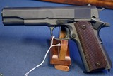 US WW2 REMINGTON RAND 1911A1 PISTOL…..LATE 1944 PRODUCTION………. MINT CRISP WITH SEARS 1942 HOLSTER!