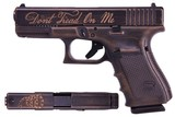 GLOCK G19 BRONZE CERAKOTE DONT TREAD ON ME 9MM