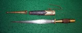 Antique Engraved French, Spanish, German Court Dagger Dirk Knife