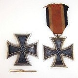 Two WWII German Iron Cross First & Second Class