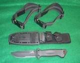 "GERBER LMF II FIXED BLADE W/BALLISTIC NYLON SHEATH & Leg Straps 10 1/2"" Black"