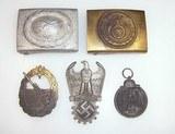 5 WWII German Nazi Belt Buckles Medals