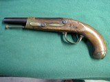 Parts Pistol- French Napoleonic Model An XIII Cavalry Pistol Converted to Percussion - 2 of 14