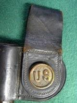US Post Civil War 1873 Button Bayonet Scabbard Rock Island Arsenal - 1 of 9