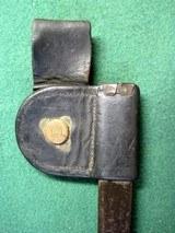 US Post Civil War 1873 Button Bayonet Scabbard Rock Island Arsenal - 5 of 9