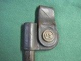 US Post Civil War 1873 Button Bayonet Scabbard Rock Island Arsenal - 3 of 9