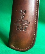 """RARE GEORGE LAWRENCE FLAP HOLSTER Mod 41 S&W 22cal 7 3/8"""" w/ Muzzle Break RH - 3 of 6"""