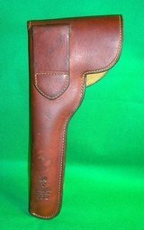 """RARE GEORGE LAWRENCE FLAP HOLSTER Mod 41 S&W 22cal 7 3/8"""" w/ Muzzle Break RH - 2 of 6"""