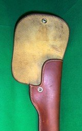 """RARE GEORGE LAWRENCE FLAP HOLSTER Mod 41 S&W 22cal 7 3/8"""" w/ Muzzle Break RH - 4 of 6"""