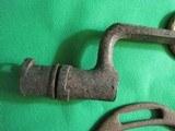 Dug Civil War Relics, Bayonet, US Box Plate, Stirrup - Perryville - 6 of 9