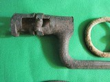 Dug Civil War Relics, Bayonet, US Box Plate, Stirrup - Perryville - 4 of 9