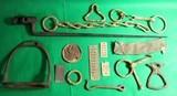 Dug Civil War Relics, Bayonet, US Box Plate, Stirrup - Perryville - 1 of 9
