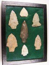 Native American Indian Arrowhead Relics Points Display A - 1 of 12