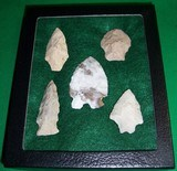 Native American Indian Arrowhead Relics Points Display B