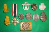 WWII Nazi Medals & Belt Buckle