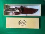NOS CHARLTON LTD DUNN'S 01 OF 100 DAMASCUS BLADE HUNTING KNIFE & SHEATH - 10 of 12