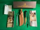 Original Unused D.H.Russel Grohmann Belt Knife + Scabbard & Sharpening Steel