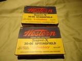 Western Super-X 30-06 Springfield Cartridge Boxes
