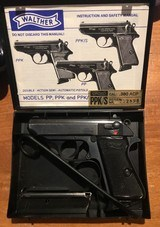 Walther PPK/S Made in W. Germany... box, papers, cleaning rod, 2 magazines