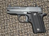 SIG SAUER P-238 PISTOL in .380 ACP WITH NIGHT SIGHTS AND VZ GRIPS