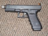 GLOCK MODEL 21-SF PISTOL IN .45 ACP WITH THREADED BARREL AND SNAKE-EYES NIGHT SIGHTS