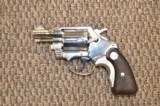 EARLY COLT DETECTIVE SPECIAL IN FACTORY NICKEL .38 SPECIAL