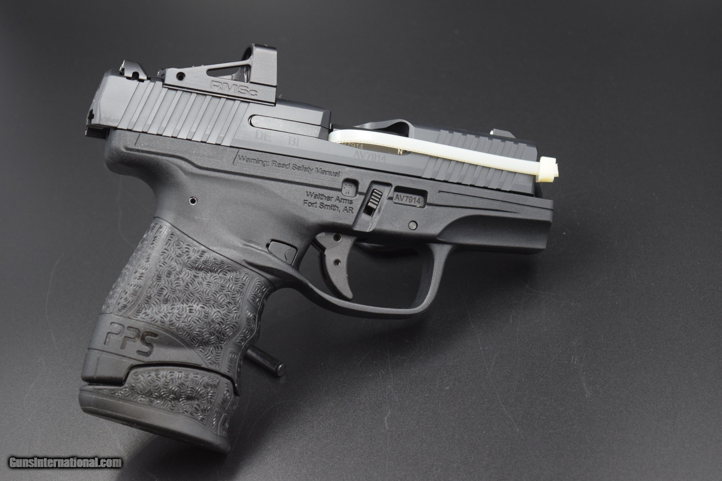 WALTHER PPS M2 RMSC 9 MM PISTOL WITH FACTORY DOT SIGHT