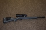 RUGER 10/22 CUSTOM SHOP COMPETITION .22 LR RIFLE WITH HEAVY FLUTED THREADED BARREL, SCOPED!!! - 1 of 8