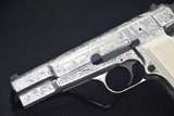 ENGRAVED BROWNING HI-POWER 9 MM PISTOL - 2 of 12