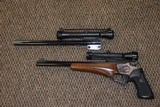 THOMPSON CENTER CONTENDER WITH TWO BARRELS/SCOPES: .35 REM and .357 HERRETT