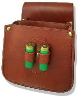 Jeff's Outfitters Divided Leather Shooting Pouch