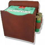 Jeff's Outfitters Leather Shooting Pouch, single box