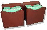 Jeff's Outfitters Leather Shooting Pouch, Two box.