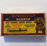 "Winchester .303 Savage Super Speed ""Bear Box"" (Full Box)"