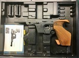 Walther OSP 22 Short target pistol in case, two clips.