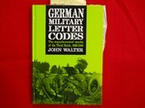 GERMAN MILITARY LETTER CODES