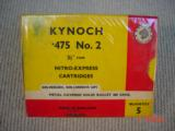 KYNOCH 475 NITRO-EXPRESS CARTRIDGES