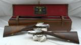 """PIOTTI """"KING – 1"""" MATCHED PAIR 12ga SIDELOCK EJECTOR GAME GUNS MADE FOR J. RIGBY & CO"""