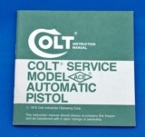 Colt Instruction Manual Colt Service Model ACE part no. 94865