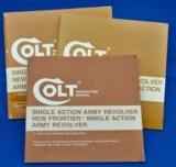 Colt Instruction Manual Single Action Army part no. 94855