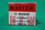 Master Cartridge Ammunition .41 Magnum 210 Grain Jacketed Hollow Point (20 Round Boxes)