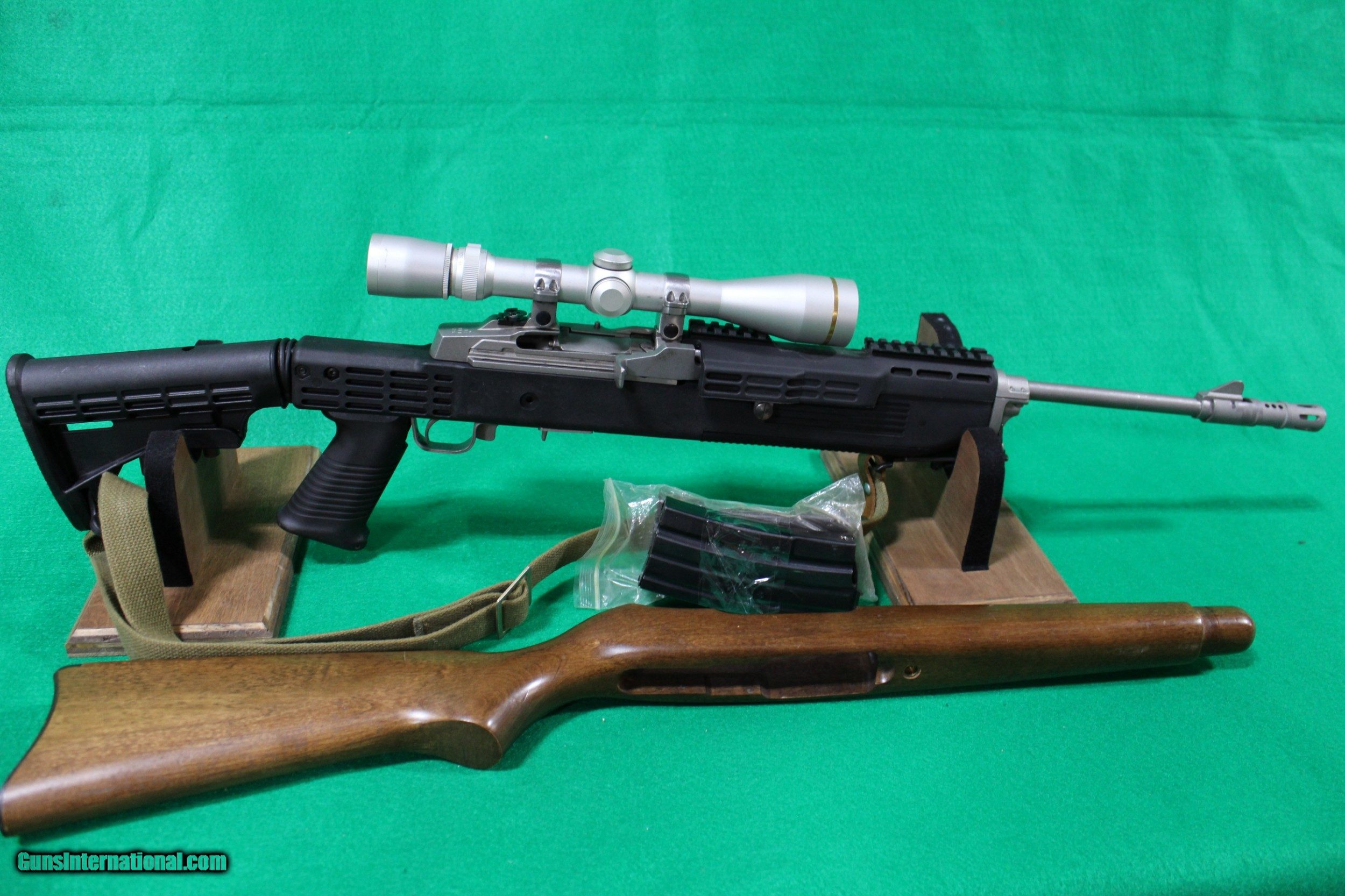 Used Ruger Mini-14 with Leupold Scope in Collapsible