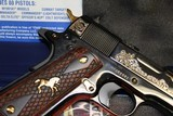 Engraved Colt 1991 (Model # O1991ZGSW).45 ACP NEW IN BOX EXCLUSIVE - 9 of 10