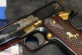 Engraved Colt 1991 (Model # O1991ZGSW).45 ACP NEW IN BOX EXCLUSIVE - 4 of 10