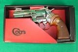 Colt Python Nickle Finish Collectors Grade 99% Original Box