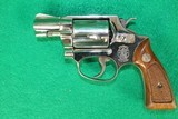 Smith & Wesson Model 37 No Dash Airweight 38 SPL Nickel