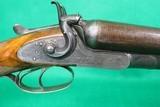 Thomas Bland & Sons English SXS Hammer Gun 10 Gauge