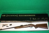 Browning Model T-2 Belgium 22 LR Rifle New In Box