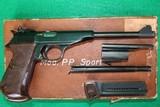 "Walther PP Sport .22 Semi-Automatic Pistol 8"" W/ Extra 6"" Barrel & Box"