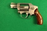 "Smith & Wesson Model 640 Stainless Hammerless 2"" 38 SPL Revolver"